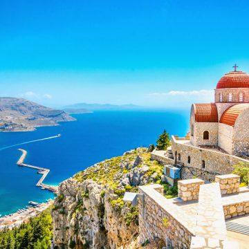 Blick auf das Meer auf Kreta