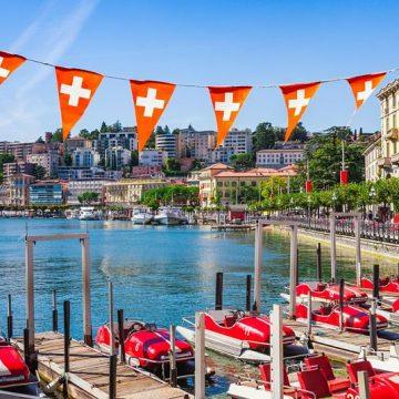 Lugano im Sommer