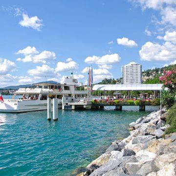Montreux mit Blick auf den See