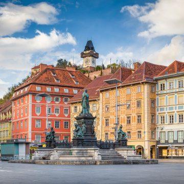 City Guide über Innenstadt von Graz